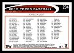 2012 Topps #234   -  Mark Teixeira Record Breaker Back Thumbnail