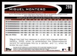 2012 Topps #288  Miguel Montero  Back Thumbnail