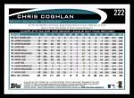 2012 Topps #222  Chris Coghlan  Back Thumbnail