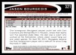 2012 Topps #321  Jason Bourgeois  Back Thumbnail