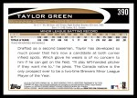 2012 Topps #390  Taylor Green  Back Thumbnail