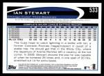 2012 Topps #533  Ian Stewart  Back Thumbnail