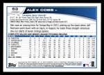 2013 Topps #53  Alex Cobb   Back Thumbnail