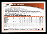 2013 Topps #156  Dillon Gee   Back Thumbnail
