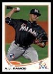 2013 Topps #175  A.J. Ramos   Front Thumbnail