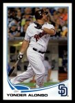 2013 Topps #223  Yonder Alonso   Front Thumbnail