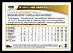 2013 Topps #288  Starling Marte   Back Thumbnail