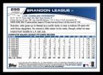 2013 Topps #295  Brandon League   Back Thumbnail