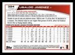 2013 Topps #394  Ubaldo Jimenez  Back Thumbnail
