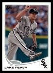 2013 Topps #458  Jake Peavy  Front Thumbnail