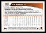 2013 Topps #533  J.J. Hardy  Back Thumbnail
