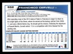 2013 Topps #552  Francisco Cervelli  Back Thumbnail
