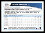 2013 Topps #558  David Murphy  Back Thumbnail