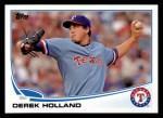 2013 Topps #591  Derek Holland  Front Thumbnail