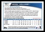 2013 Topps #591  Derek Holland  Back Thumbnail