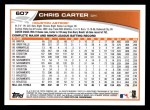 2013 Topps #607  Chris Carter  Back Thumbnail