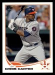2013 Topps #607  Chris Carter  Front Thumbnail
