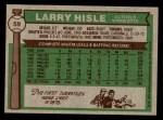 1976 Topps #59  Larry Hisle  Back Thumbnail