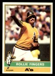 1976 Topps #405  Rollie Fingers  Front Thumbnail