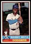 1976 Topps #548  Manny Mota  Front Thumbnail