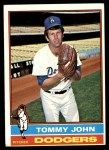 1976 Topps #416  Tommy John  Front Thumbnail