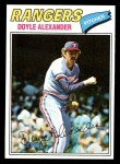 1977 Topps #254  Doyle Alexander  Front Thumbnail