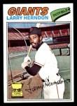 1977 Topps #397  Larry Herndon  Front Thumbnail
