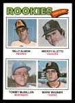 1977 Topps #490   -  Billy Almon / Mickey Klutts / Tommy McMillas / Mark Wagner Rookie Shortstops  Front Thumbnail