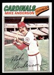 1977 Topps #72  Mike Anderson  Front Thumbnail
