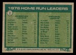 1977 Topps #2   -  Graig Nettles / Mike Schmidt HR Leaders   Back Thumbnail
