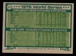 1977 Topps #413   -  Tony Perez / Will McEnaney 1976 World Series - Cincy Wins 2nd Straight Series Back Thumbnail