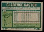 1977 Topps #192  Cito Gaston  Back Thumbnail