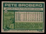 1977 Topps #409  Pete Broberg  Back Thumbnail