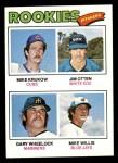 1977 Topps #493   -  Mike Krukow / Jim Otten / Gary Wheelock / Mike Willis Rookie Pitchers   Front Thumbnail