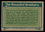 1977 Topps #634   -  Paul Reuschel / Rick Reuschel Big League Brothers Back Thumbnail