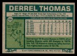 1977 Topps #266  Derrel Thomas  Back Thumbnail
