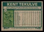 1977 Topps #374  Kent Tekulve  Back Thumbnail