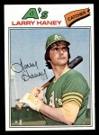 1977 Topps #12  Larry Haney  Front Thumbnail