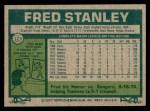1977 Topps #123  Fred Stanley  Back Thumbnail