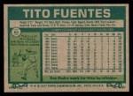 1977 Topps #63  Tito Fuentes  Back Thumbnail