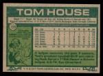 1977 Topps #358  Tom House  Back Thumbnail