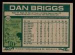 1977 Topps #592  Dan Briggs  Back Thumbnail