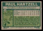 1977 Topps #179  Paul Hartzell  Back Thumbnail