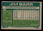 1977 Topps #609  Jim Barr  Back Thumbnail