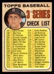 1968 Topps #192 C  -  Carl Yastrzemski Checklist 3 Front Thumbnail
