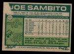 1977 Topps #227  Joe Sambito  Back Thumbnail