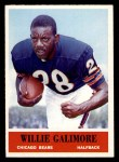 1964 Philadelphia #19  Willie Galimore  Front Thumbnail