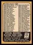 1968 Topps #192 C  -  Carl Yastrzemski Checklist 3 Back Thumbnail