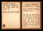 1967 Philadelphia #139  Floyd Peters  Back Thumbnail