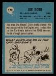 1964 Philadelphia #179  Joe Robb  Back Thumbnail